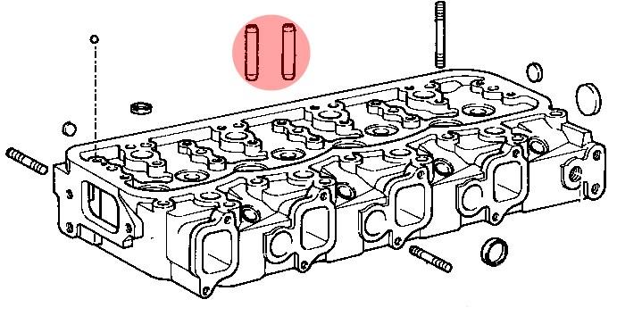 guide de soupape pour toyota bj4  moteur b  74