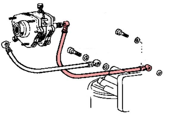 durite d u0026 39 entr u00e9e de pompe a vide pour toyota bj4  moteur b