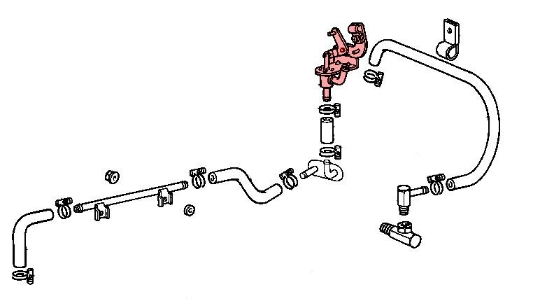 robinet de chauffage pour toyota fj4  moteur f et 2f  09