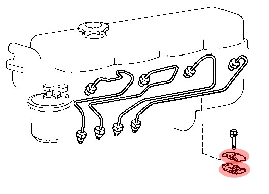 crampon de fixation de tuyau d u0026 39 injecteur pour toyota bj4