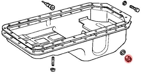 bouchon de vidange moteur diam u00e8tre 18mm pour toyota bj4