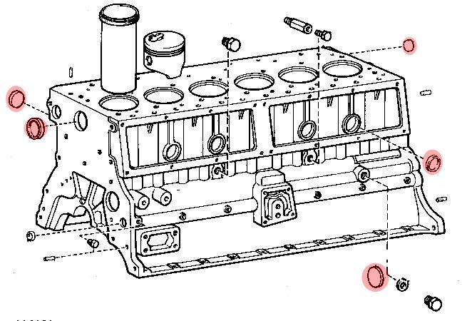 bouchon de bloc moteur diam u00e8tre 26mm pour toyota hj4  moteur h