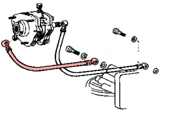 durite de sortie de pompe a vide pour toyota bj4  moteur b  02  74  80