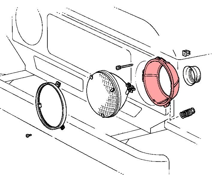 anneau de montage de phare avg toyota bj4   01  79  86