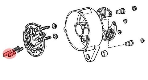 balai alternateur moteur f et 2f pour toyota fj4   03  69