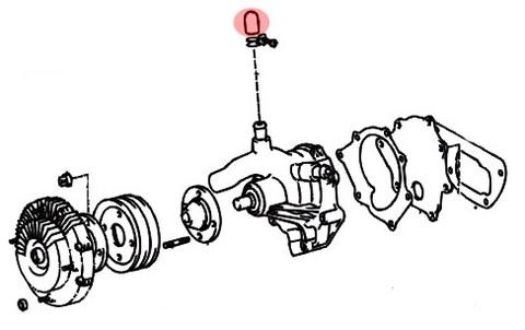 bouchon de pompe a eau moteur b et 3b